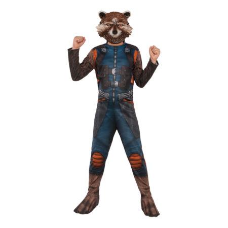 endgame kostume til børn Rocket raccon vaskebjørn udklædning Avengers 4 børnekostume