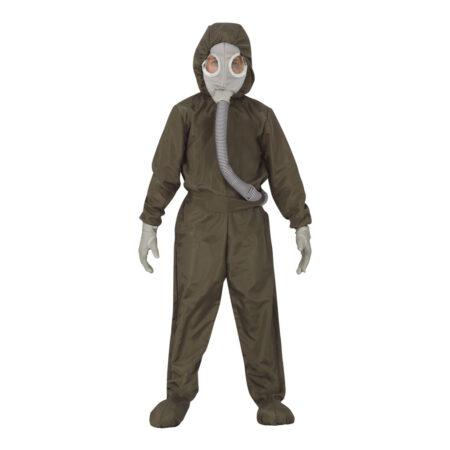 strålingsdragt kostume halloween kostume med maske udrydningsdragt beskyttelsesdragt halloween kostume til børn