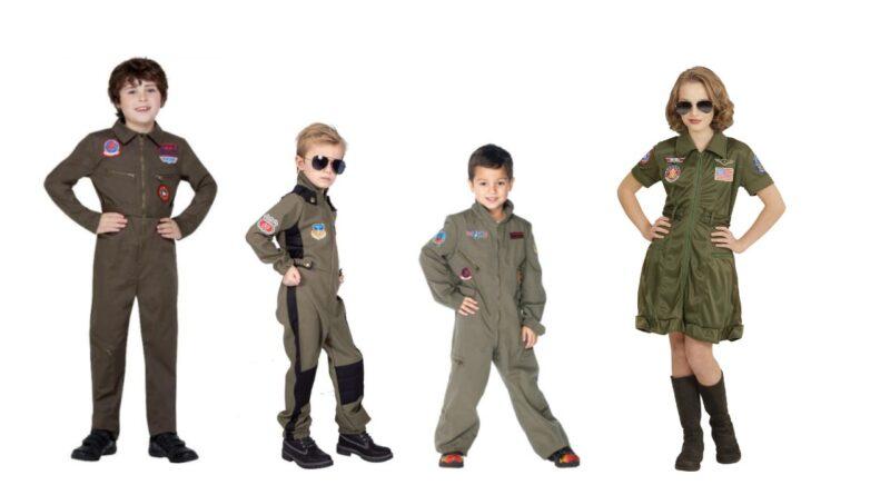 Top gun kostume til børn jægerpilot udklædning piger top gun kostume pige top gun udklædning baby