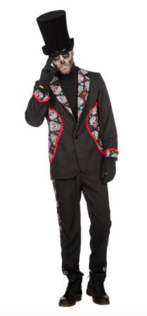 day of the dead jakkesæt til voksne 209x450 - Halloween jakkesæt til voksne