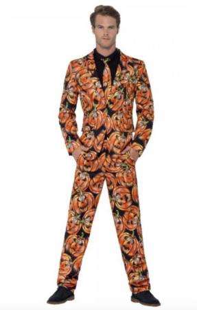græskar jakkesæt 287x450 - Halloween jakkesæt til voksne