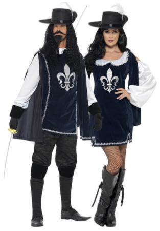 musketer par kostume til voksne