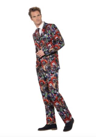 ond klovn jakkesæt 317x450 - Halloween jakkesæt til voksne
