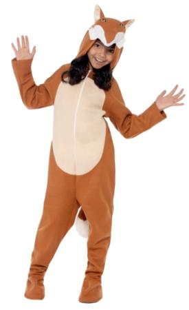 ræv heldragt til børn ræv udklædning varmt kostume til fastelavn
