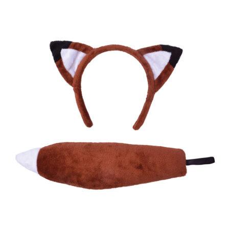 ræv tilbehør rævehale ræv ører kostumesæt