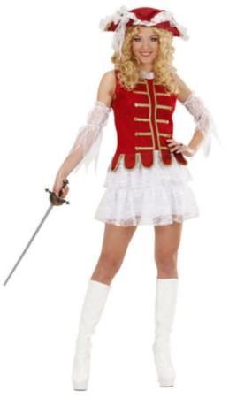 rød musketer udklædning til kvinder musketer kostume dame