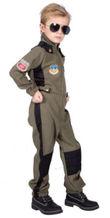 top gun børnekostume jægerpilot udklædning dreng top gun udklædning pilot kostume til børn militær udklædning flyvevåbnet kostume til børn
