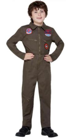 top gun kostume 10 år top gun jægerpilot kostume kedeldragt kostume til børn