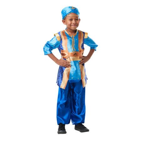 genie kostume til børn blåt kostume til drenge disney aladdin kostume til barn