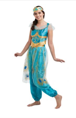 jasmin udklædning til dame turkis kostume fastelavnskostume til kvinder eksotisk kostume