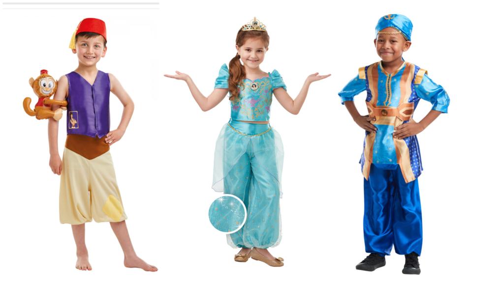 aladdin kostume til børn jasmin kostume genie kostume til børn disney kostume til børn