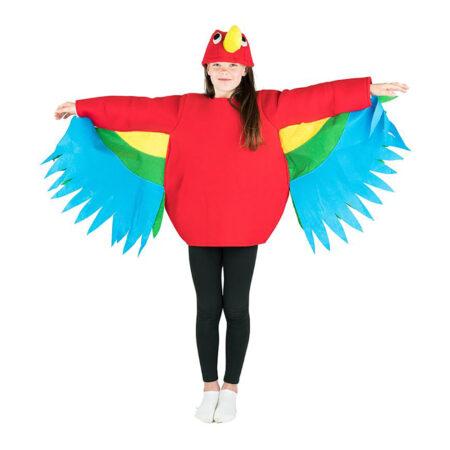 Papegøje børnekostume 450x450 - Røde kostumer til børn