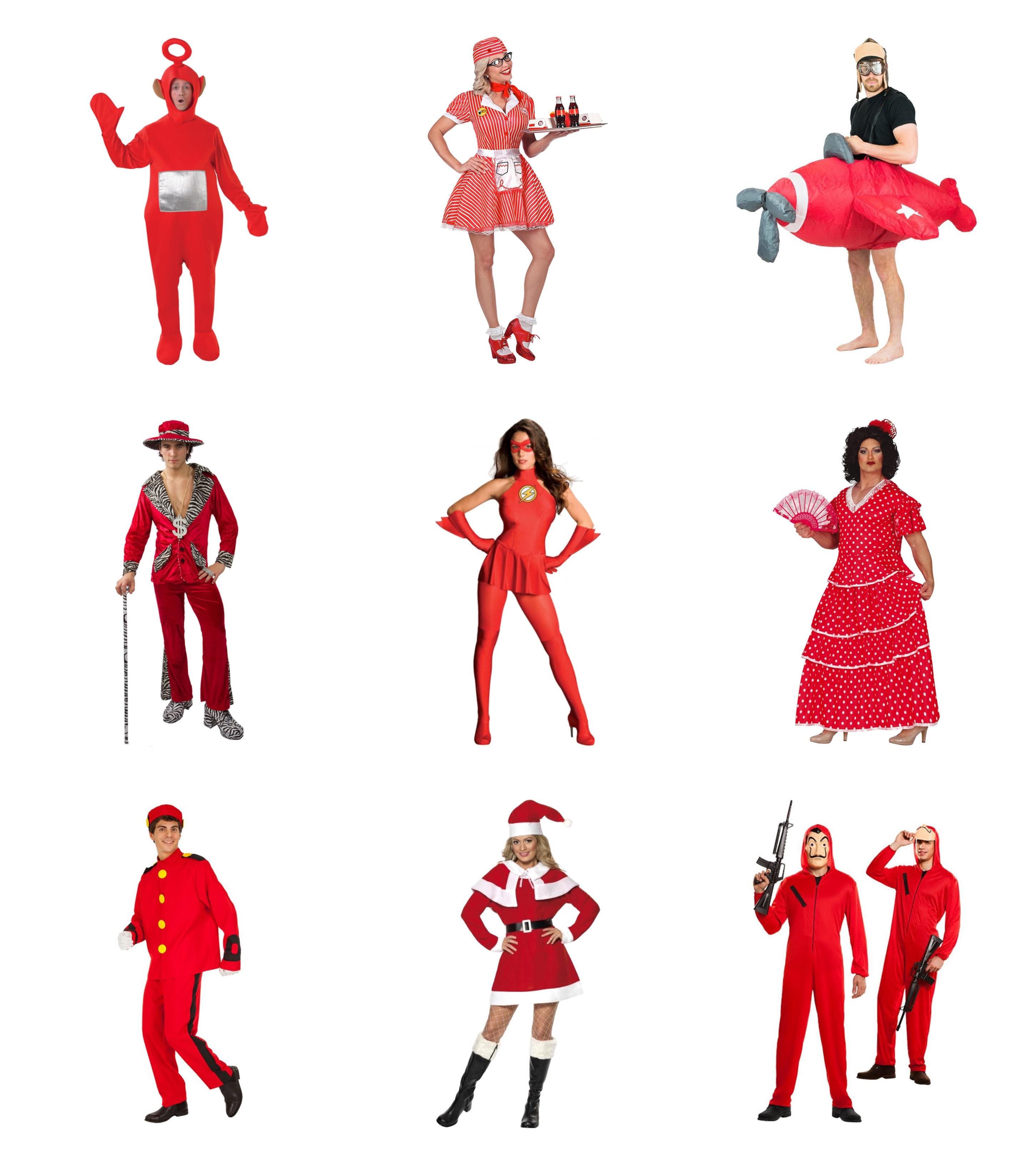 Røde voksenkostumer - Røde kostumer til voksne