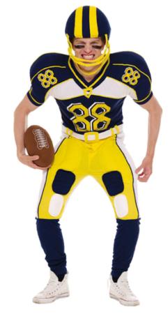 amerikansk fodbold kostume til voksne amerikansk fodboldspiller kostume amerikansk udklædning amerikansk temafest tøj