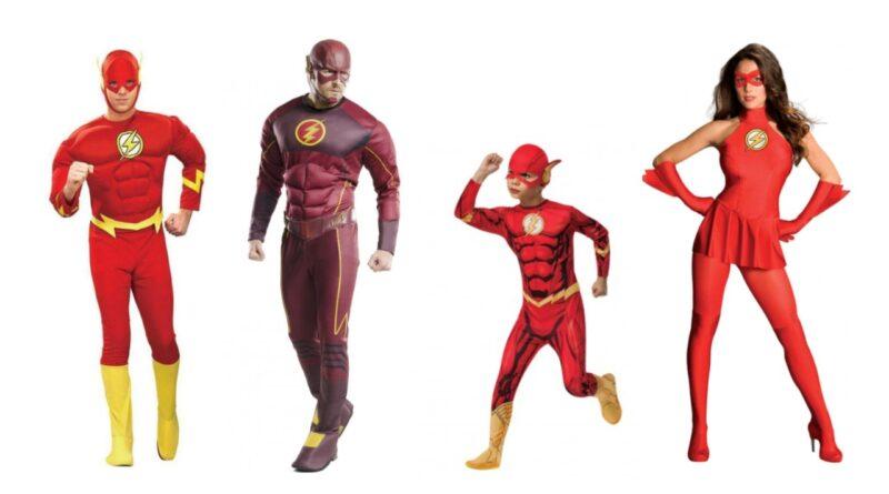flash kostume lynet kostume justince league kostume flash udklædning lynet udklædning