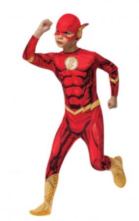 flash kostume til børn superhelte kostume rødt børnekostume lyn kostume