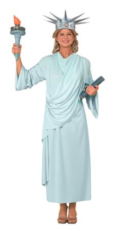 frihedsgudinde kostume til kvinder amerikansk monoment kostume lyseblåt kostume til voksne