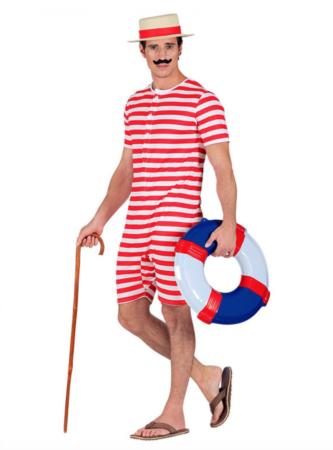 gammeldags badedragt 333x450 - Røde kostumer til voksne