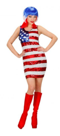 miss usa kostume amerikansk flag udklædning kjole i amerikanske farver