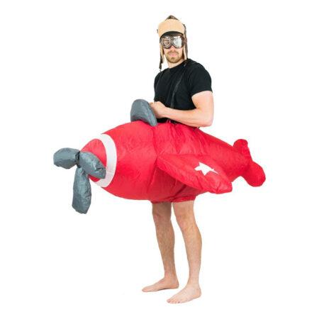oppusteligt fly kostume sjove kostumer til sidste skoledag 450x450 - Røde kostumer til voksne