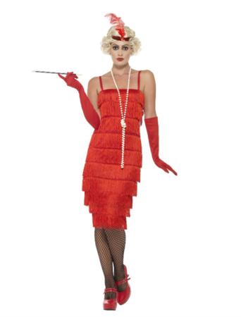 rød charlestonkjole 342x450 - Røde kostumer til voksne