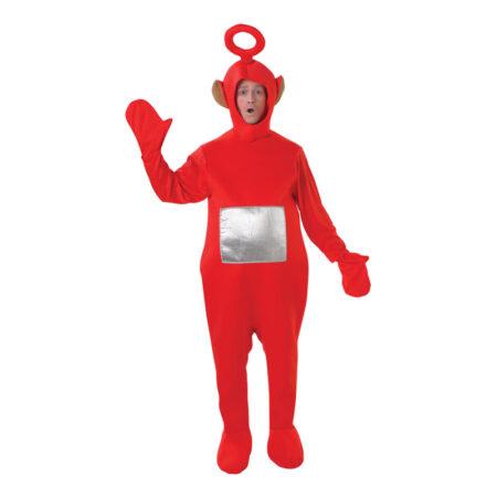 rød teletubbies kostume til voksne 450x450 - Røde kostumer til voksne