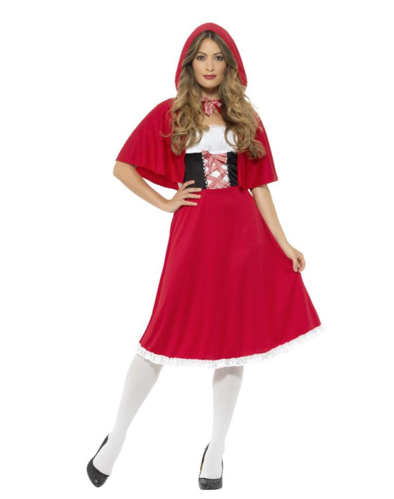 rødhætte kostume røde kostumer til kvinder - KostumeUniverset