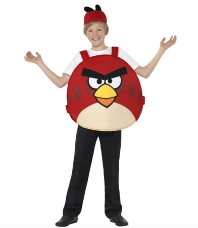 rødt angrybirds kostume 392x450 - Røde kostumer til børn