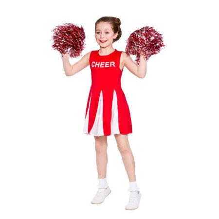 rødt cheerleader kostume til børn 450x450 - Røde kostumer til børn