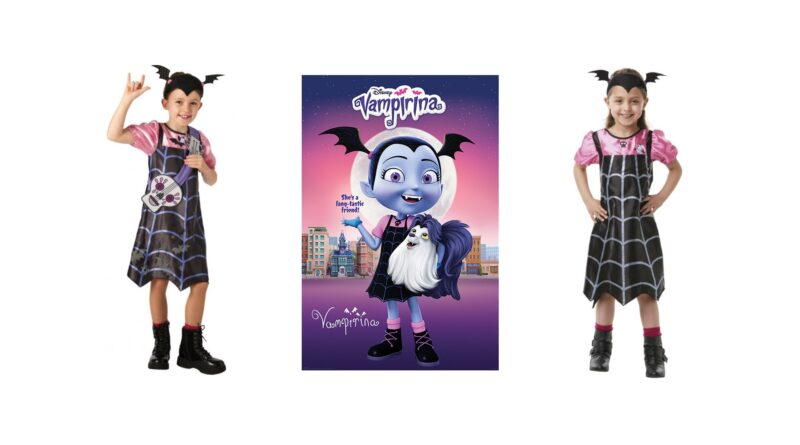 vampirina kostume til børn disney junoir kostume til børn halloween børnekostume vampyr udklædning til piger