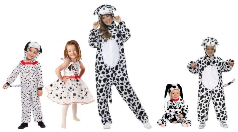 101 dalmatiner kostume 101 dalmatinere udklædning til voksne dalmatiner kostume til børn disney hundekostume disney kostume til børn og voksne sort og hvidt kostume dalmatiner babykostume
