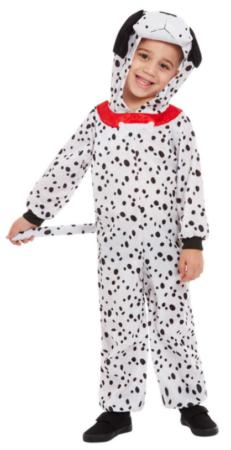 101 dalmatiner kostume til 1 årig 2 årig 3 årig hunde kostume til børn prikket hund udklædning dalmatinere kostume til børn