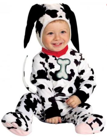 101 dalmatiner kostume til baby dalmatiner babykostume disney kostume 1 år disney babykostume hundekostume til baby