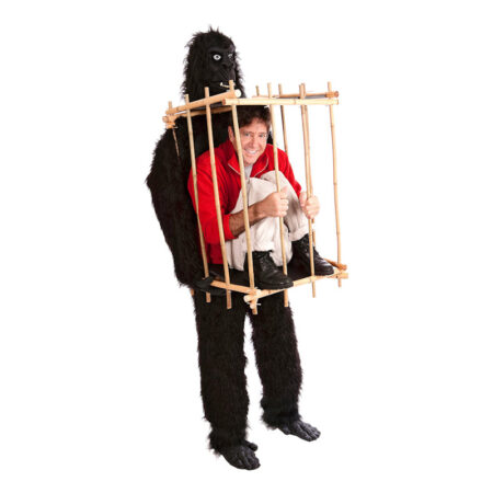 Gorilla med bur fastelavnskostume til voksne 450x450 - Sjove fastelavnskostumer til voksne