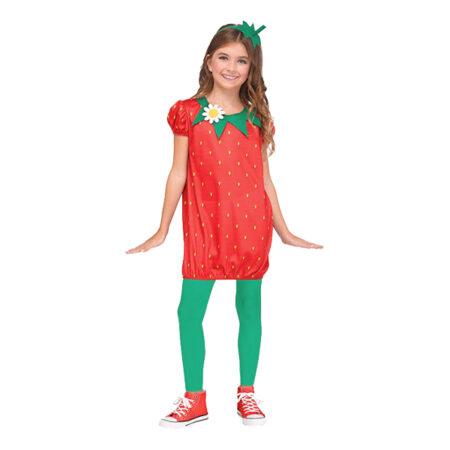 Jordbær fastelavnskostume til piger 450x450 - Billige fastelavnskostumer til piger under 200 kr