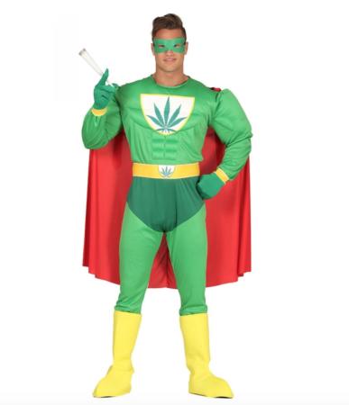 Marijuana Superhero kostume  387x450 - Sjove fastelavnskostumer til voksne