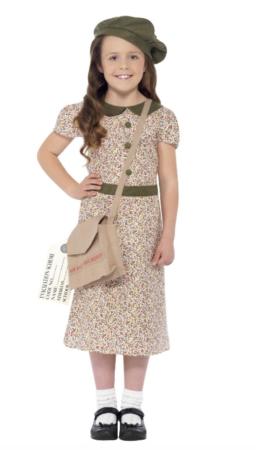 Pige fra 2. Verdenskrig Børnekostume børnekostume 256x450 - Billige fastelavnskostumer til piger under 200 kr