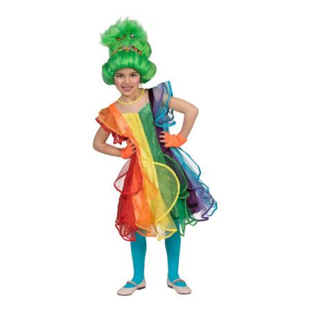 Regnbue kjole til børn 450x450 - Sjove fastelavnskostumer til børn