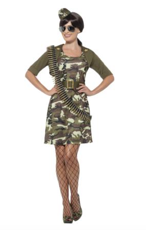 Soldat fastelavnskostume til voksne billige fastelavnskostumer til kvinder 285x450 - Billige fastelavnskostumer til kvinder under 200 kroner