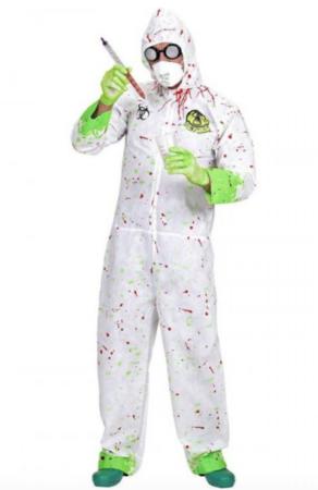 blodigt biolog kostume 292x450 - Billige fastelavnskostumer til mænd under 200 kroner