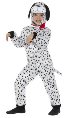 dalmatiner børnekostume sort og hvidt hunde kostume til børn 101 dalmatiner udklædning fastelavnskostume