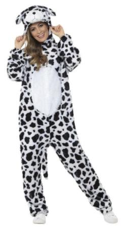 dalmatiner kostume til voksne 101 dalmatiner udklædning til voksne fastelavnskostume til voksne heldragt 101 dalmatinertøj