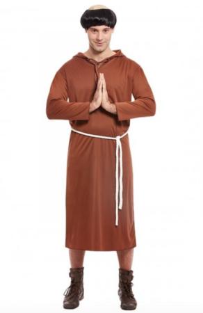 munk fastelavnskostume til voksne 292x450 - Billige fastelavnskostumer til mænd under 200 kroner