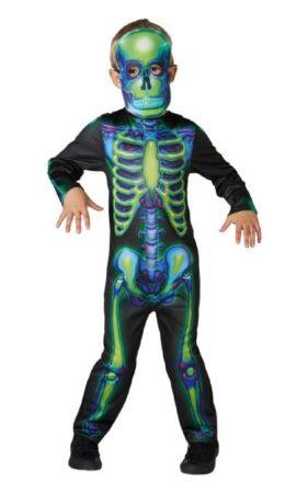 neon skeletkostume 281x450 - Billige fastelavnskostumer til drenge under 200 kr