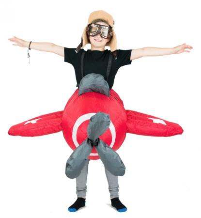 oppustelig flyvemaskine kostume 415x450 - Sjove fastelavnskostumer til børn