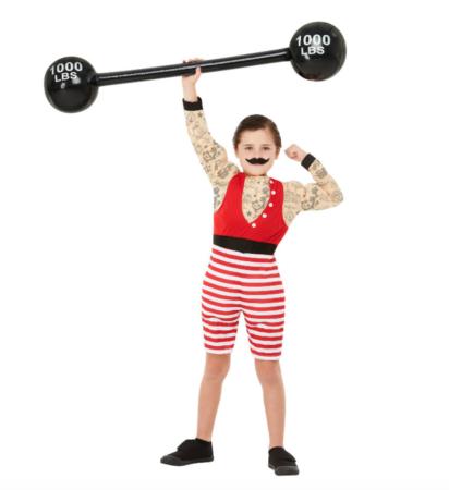 stærk dreng kostume 412x450 - Sjove fastelavnskostumer til børn