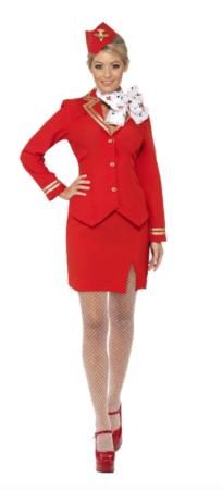 stewardesse fastelavnskostume til voksne billige fastelavnskostumer til kvinder 204x450 - Billige fastelavnskostumer til kvinder under 200 kroner