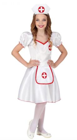 sygeplejerske fastelavnskostume til piger 247x450 - Billige fastelavnskostumer til piger under 200 kr