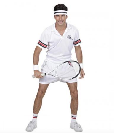 tennisspiller fastelavnskostume til voksne sjove fastelavnskostumer til mænd 385x450 - Billige fastelavnskostumer til mænd under 200 kroner