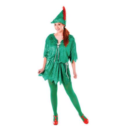 Peter pan kostume til voksne 450x450 - Grønne kostumer til voksne